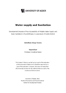 Water supply and sanitation : development impacts of poor
