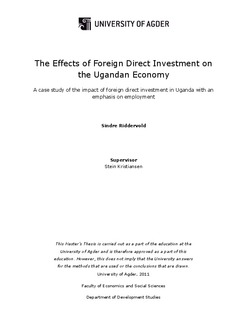 Master thesis on working capital management