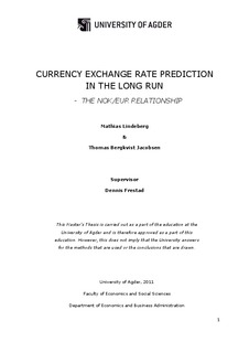 Master thesis exchange rate