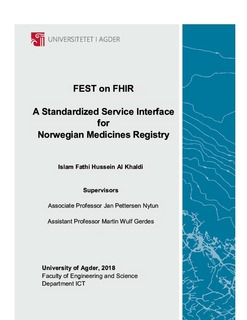 FEST on FHIR : A Standardized Service Interface for